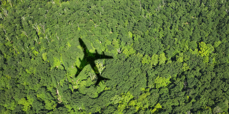 Shadow of an aeroplane