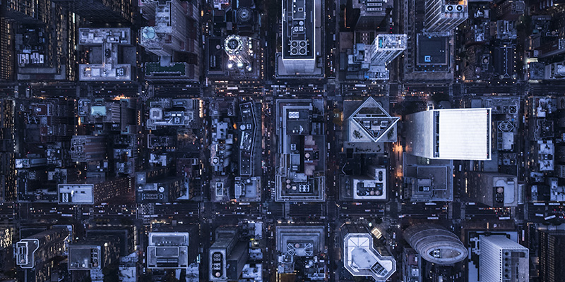 Aerial picture of a city