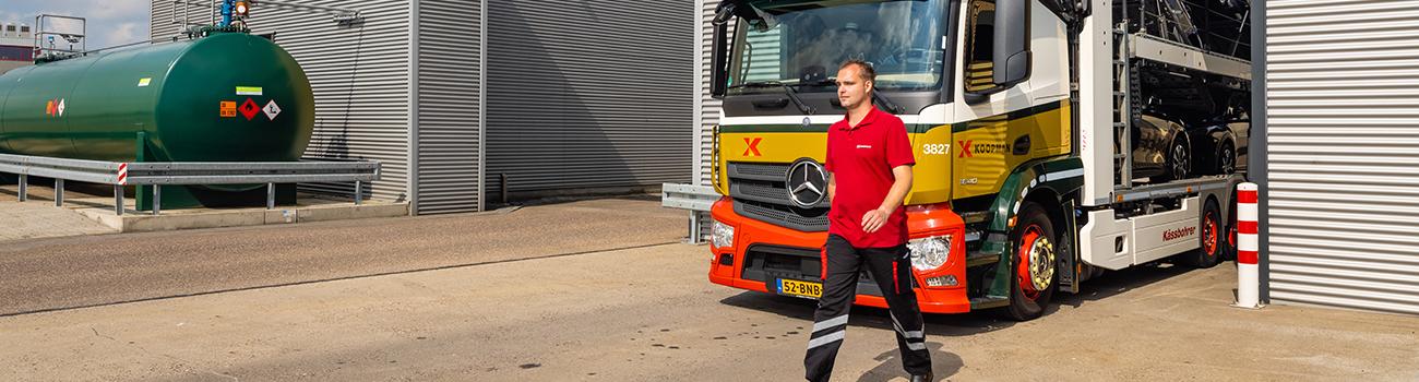 Chauffeur Autotransport Koopman voor vrachtauto