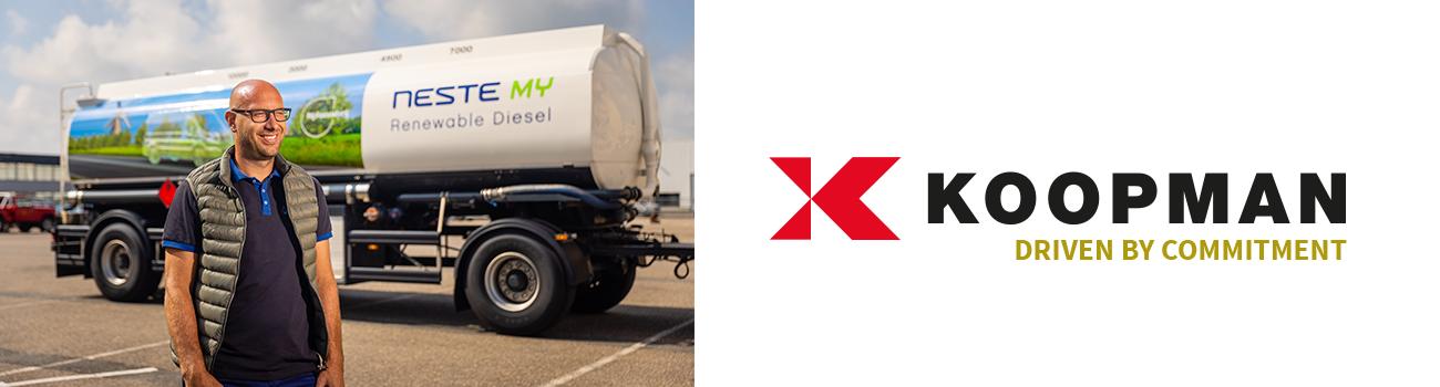 Chauffeur van Koopman voor tankwagen Neste MY Renewable Diesel